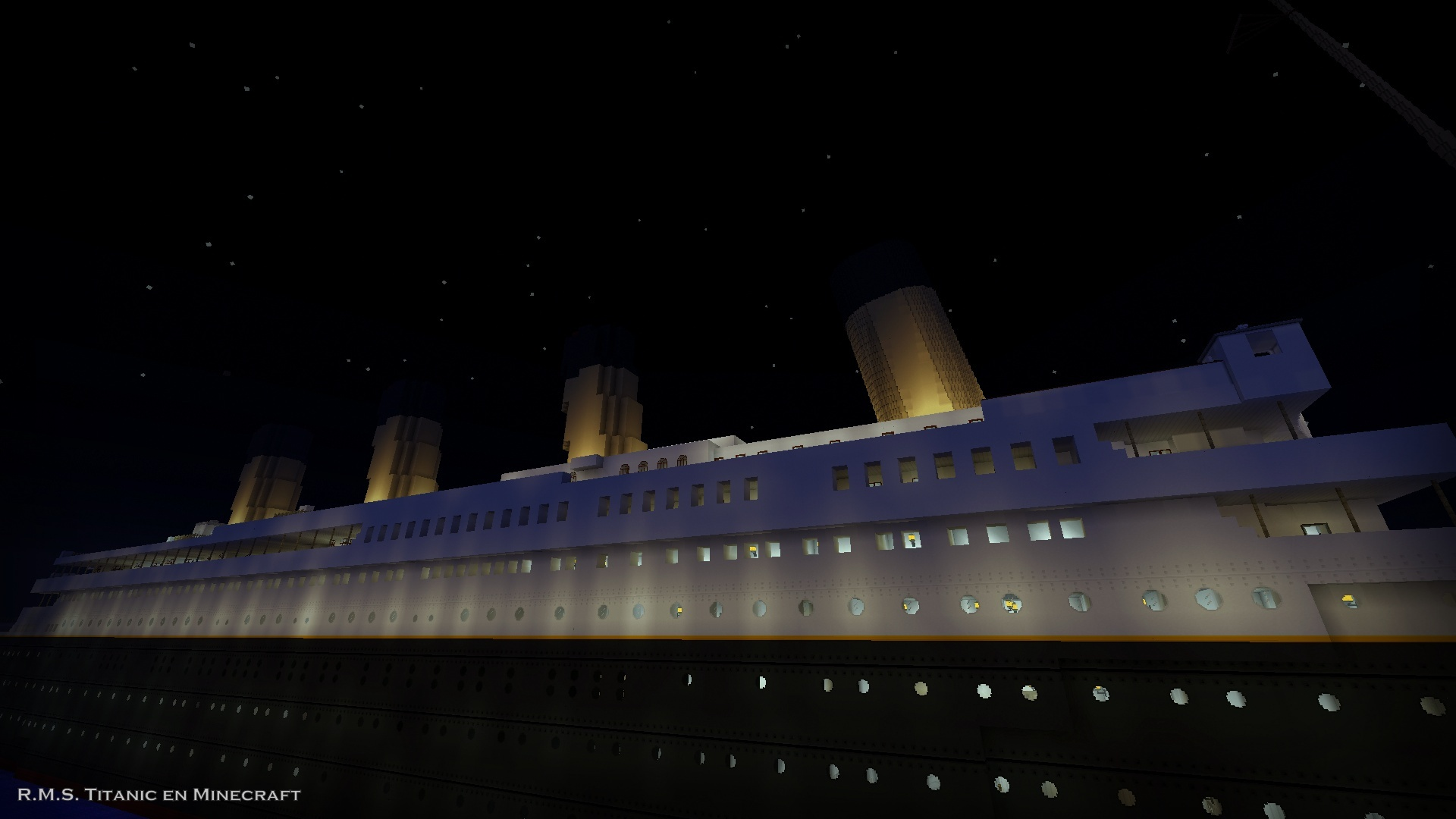 Titanic por la noche